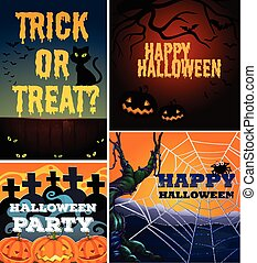 Poster design with halloween theme