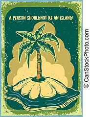 illustration of a palm on the island
