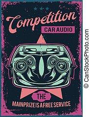 illustration of car audion system