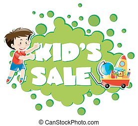 Poster design with kid's sale
