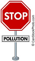 Poster design with stop pollution