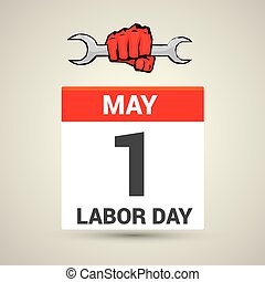 Poster design with text 1st May Labor Day
