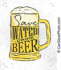 Poster drink beer