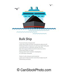 Poster Dry Cargo Ship