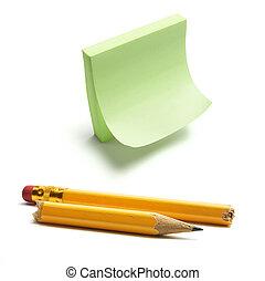 poster, et, crayon cassé