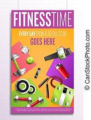 poster, fitness, tijd