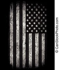 poster., flag., drapeau américain, fond, grunge