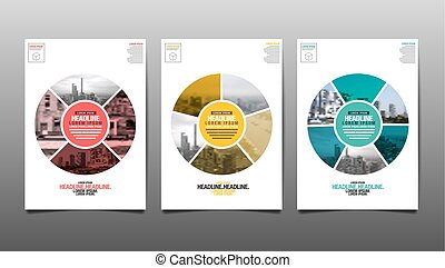 Poster , Flyer Template, Circle Abstact Background, vector ...