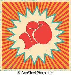 Poster for boxing - Vintage vector poster for boxing