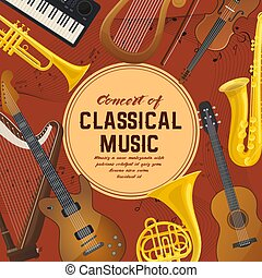 Poster for classical music instruments, sound - Classical...