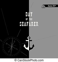 Poster for Day of the Seafarer with sea attributes