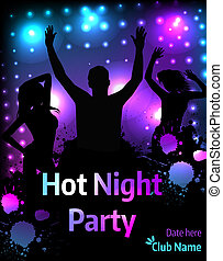 Poster for party template