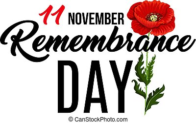 Poster for Remembrance day - Vector poster for Remembrance...