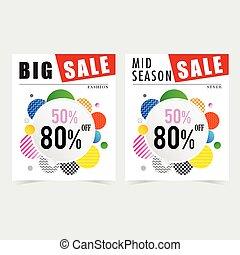 poster for sale design illustration in colorful