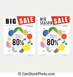 poster for sale square design illustration in colorful