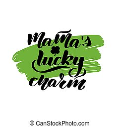 Poster for St. Patricks Day - lettering greeting card.