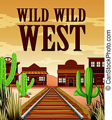 Poster for wild west town