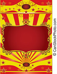 Poster frame circus - Circus background with a red frame for...