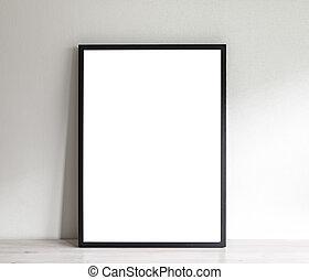 Poster frame mockup - Image of simple poster frame mockup...