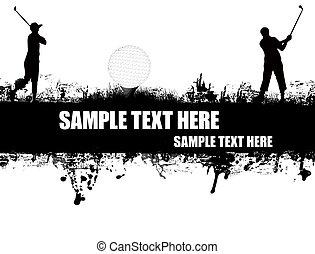 poster, golf