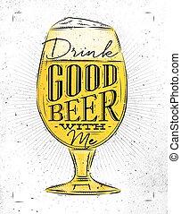 Poster good beer