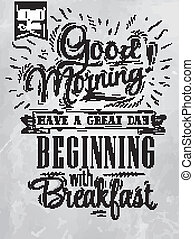 Poster Good morning coal - Poster lettering Good morning! ...