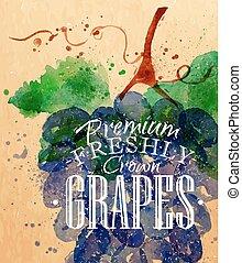 Poster grapes