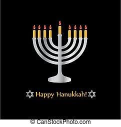 poster-, hanukkah, símbolo, feliz, estrella, feriado, judío...