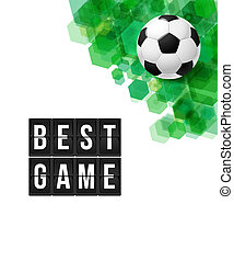 poster., illustration., elvont, labdarúgás, vektor, futball