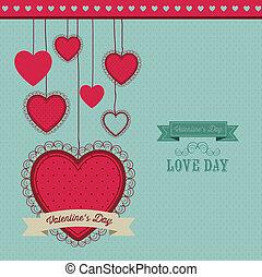 Valentine's Day - Poster illustration of Valentine's Day,...