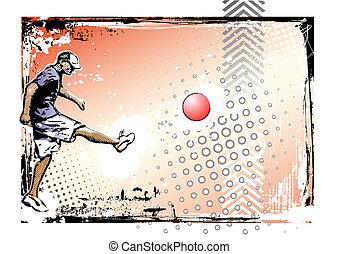poster, kickball