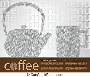 poster, koffie