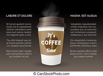 poster, koffie, takeaway