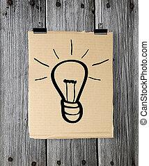 poster, lamp