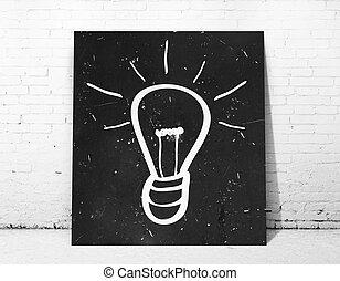 poster, lamp, symbool