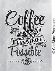Poster lettering coffee