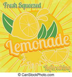 poster, limonade