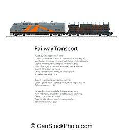 Poster Locomotive with Railway Platform