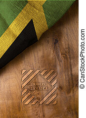 Poster Made in Jamaica - National flag of Jamaica from...