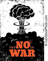 Poster no war