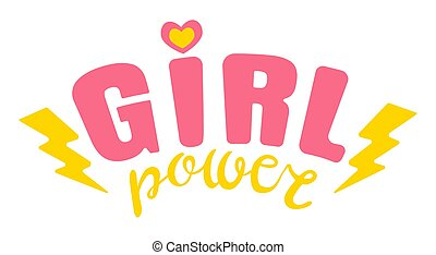 Poster of Girl power with pink ribbon