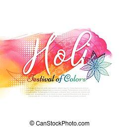 poster of indian holi festival design