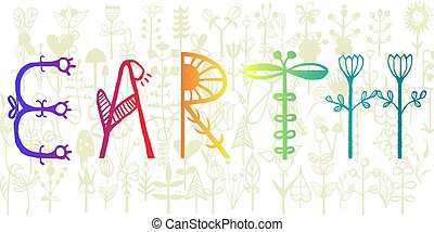 poster, of, milieu, achtergrond, veiligheid, aarde, vrolijke , spandoek, dag, viering