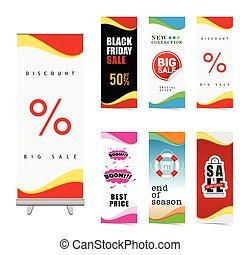 poster of sale set illustration