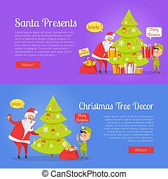 Poster of Santa Presents and Xmas Tree Decor.