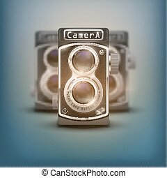 Vintage twin lens reflex cameras - Poster of Vintage twin ...