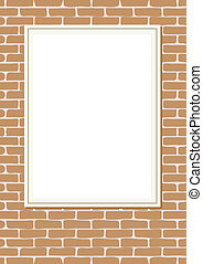 poster on brick wall - transparent space insert for picture...