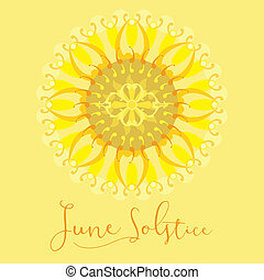Poster on June Solstice - A geometric design for summer...