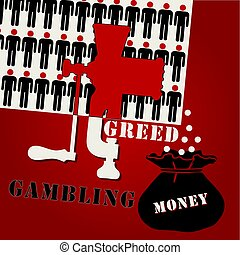 Poster on the subject of Gambling