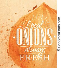 Poster onion